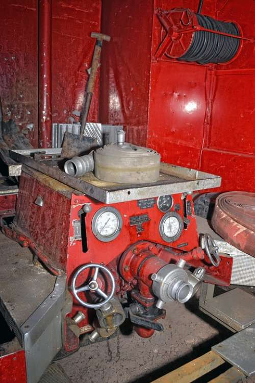 Old Fire Engine Emergency Pump