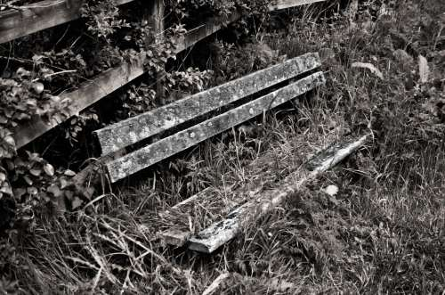 Old Bench Wood Architecture Decoration Background