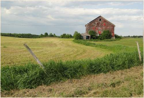 Old Barns Landscapes Farm Country Fields Rural Ny