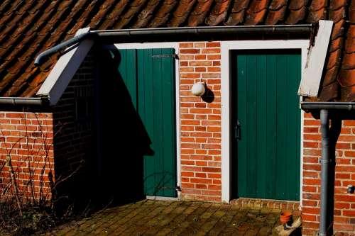 Old Fehnhaus Door Rear East Frisia Museum