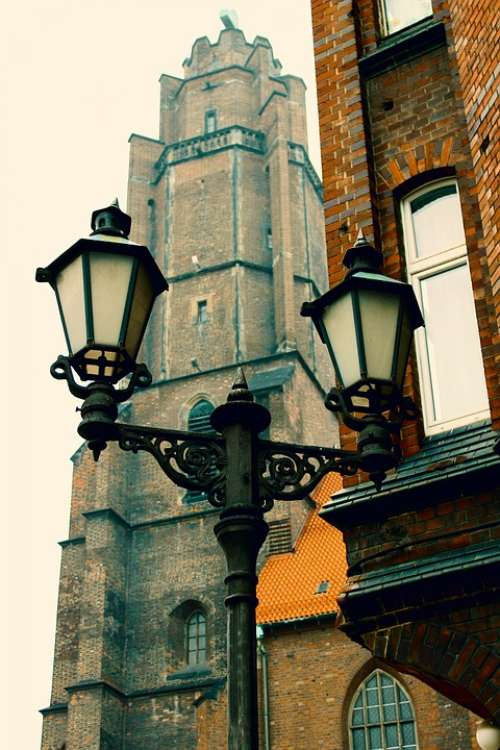 Old Lamppost The Old Town Architecture Old Town