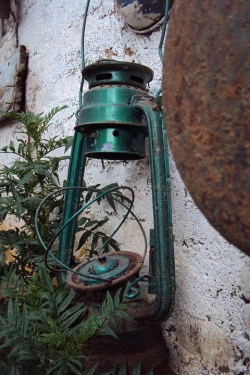 Old Lantern Broken Lantern Green Lantern Antique
