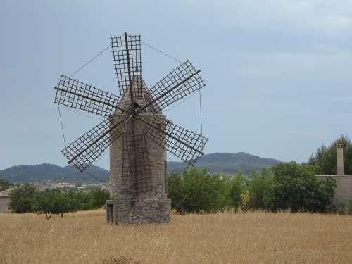 Old Mill Windmill Landmark Mallorca Historically