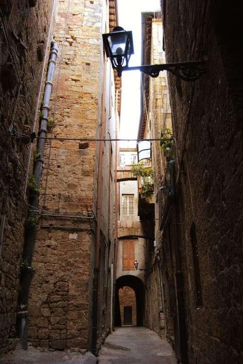 Old Street Street Volterra Italy