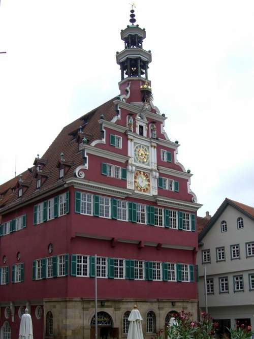 Old Town Hall Esslingen Tower Glockenspiel Building