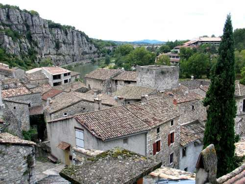 Old Village Ardèche Landscape