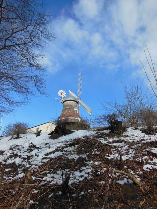 Old Windmill Dyrhave Mill 1800 Century