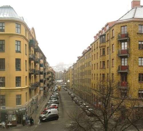 Olivedal Sweden City Buildings Street Traffic