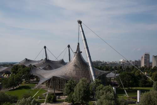 Olympic Site Munich Bavaria Roof Architecture