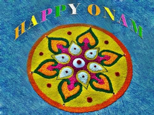 Onam Atham Decoration Celebration Kerala Festival