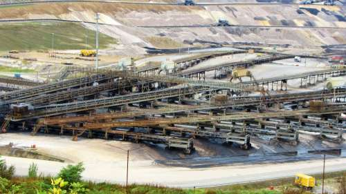 Open Pit Mining Inden Raw Materials Hard Coal