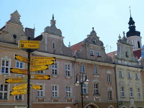 Opole Poland Silesia Space Historically Market