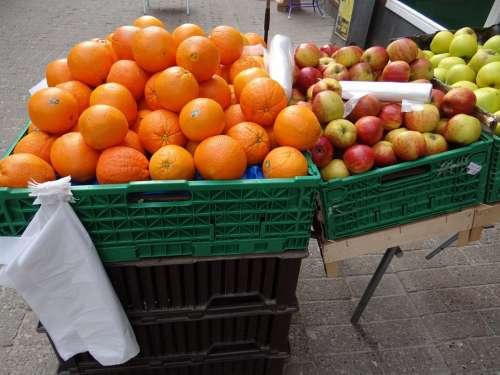 Oranges Apples Fruit Greengrocer Fruit Boxes