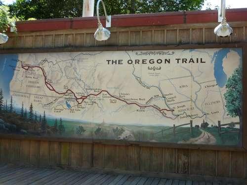 Oregon Trail Map History Historic Museum