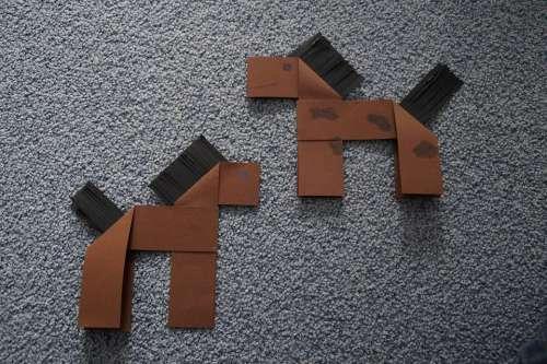 Origami Horses Seahorses Handicraft Folding Work