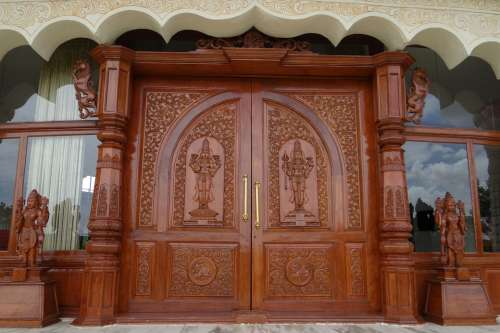 Ornate Door Wooden Carved Art Of Living
