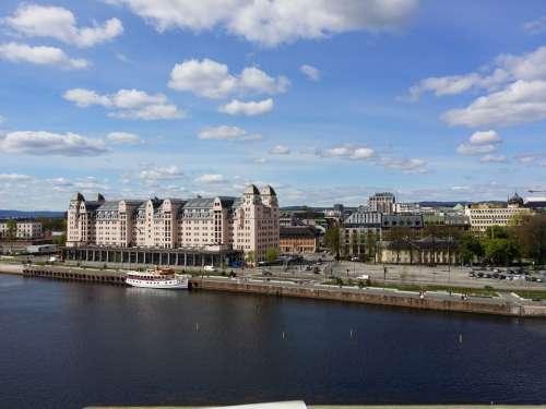Oslo Norway Oslofjord Port City Building