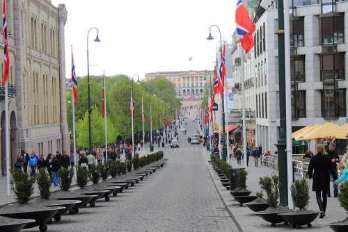 Oslo Norway King House Karl Johans Gate