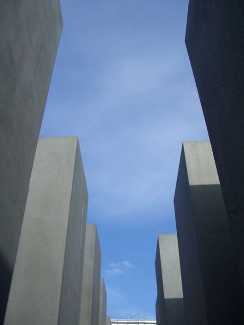 Out Gray Steles Sky Blue Berlin