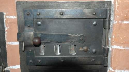 Oven Door Oven Stove Cooking Zone Antique