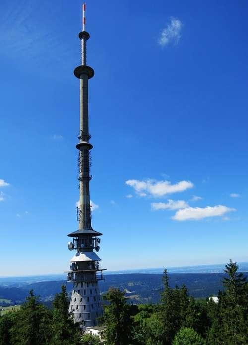 Ox-Head Fichtelgebirge Transmission Tower Sky Blue