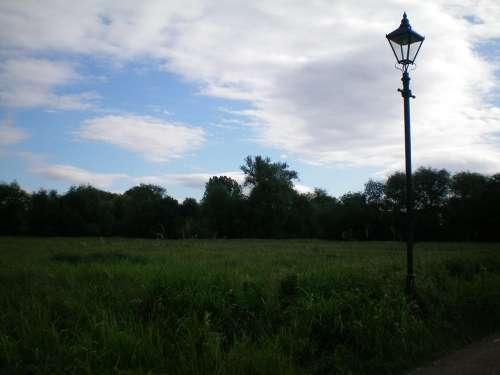 Oxford England Nature Column Lampa Taj Felhok
