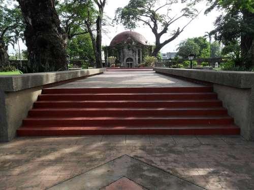Paco Park Park Stairs Church