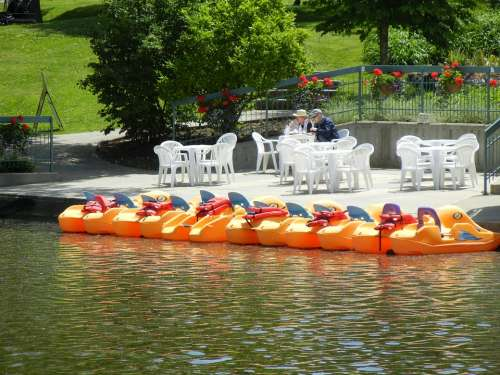 Paddle Boats Coffee House River Ontario Canada