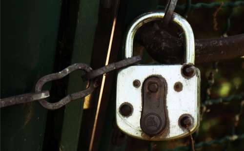 Padlock Castle Secure Protect Capping Shut Off
