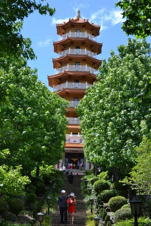 Pagoda Tower Alignment Stairs