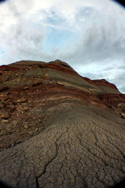 Painted Desert Landscape Mountain Arizona Nature