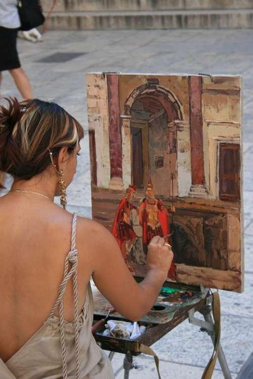 Painter Romans Gladiators Croatia