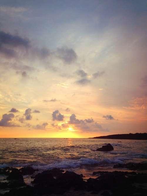 Pak Sha Wan Sunset The Sea Beach