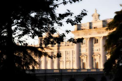 Palace Royal Madrid Tourism Architecture View