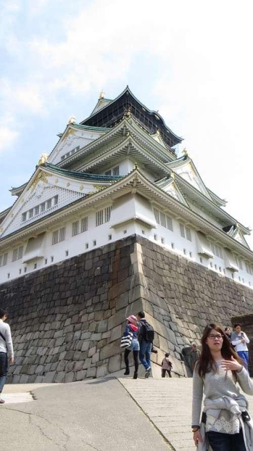 Palace Castle Japan Fortress