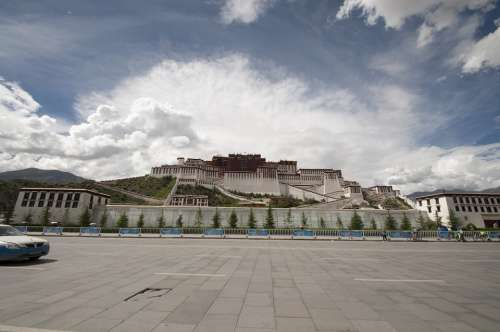 Palace Tibet Tibetan Potala Palace Lhasa China