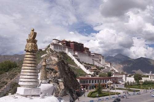 Palace Tibet Tibetan Potala Palace Lhasa China
