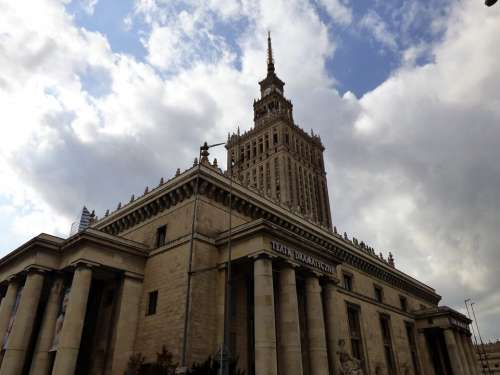 Palace Of Culture Warsaw Poland Monument