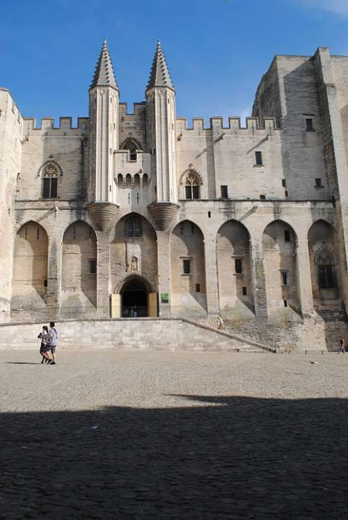 Palais Des Papes Avignon France Architecture
