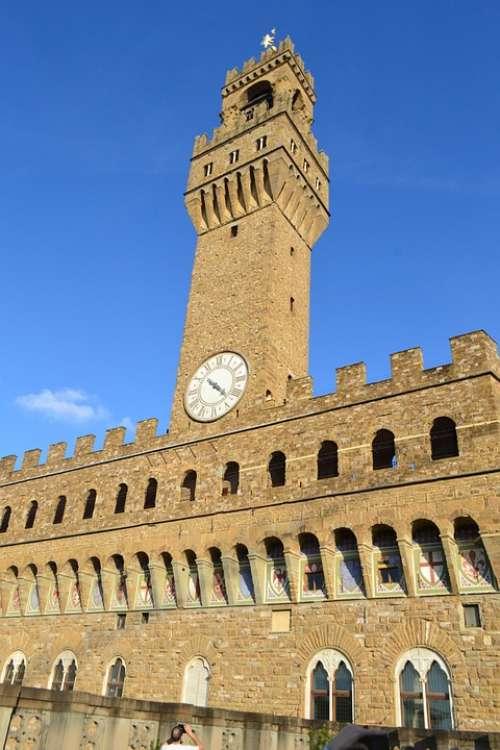 Palazzo Vecchio Florence Old Palace Italy Palace