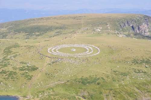Paneurhythmy Dance Mountain Rila Bulgaria Circles