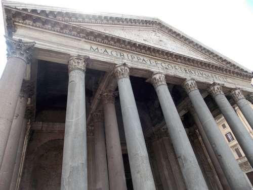 Pantheon Italy Rome Architecture Roman Monument
