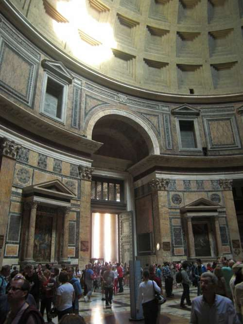 Pantheon Rome Italy Church Temple Building