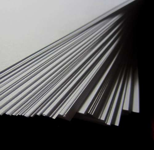 Paper White Stack Shifted Tiered Dark Background