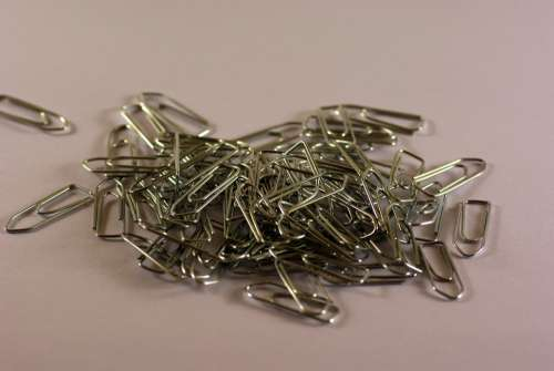 Paperclip Pile Many Stationery Clamp