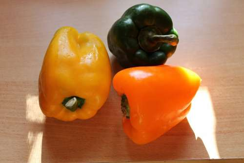 Paprika Green Peppers Yellow Peppers Vegan