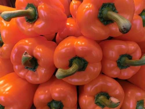 Paprika Orange Vegetables Healthy