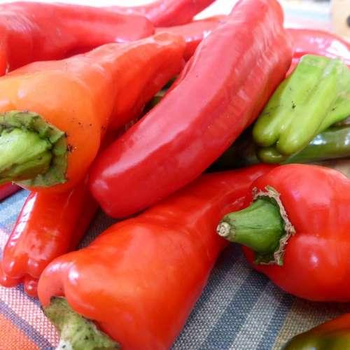 Paprika Pepperoni Red Green Vegetables Food