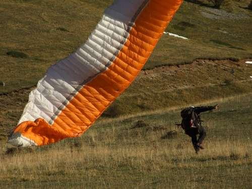 Parachute Paragliding Extreme Sport Sport Wind