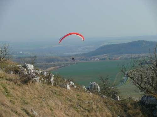 Paraglider Czech Republic Palava